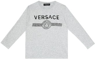 Versace Kids Logo cotton-jersey T-shirt
