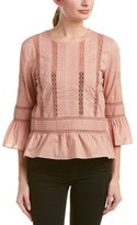 Love Sam Pleated Blouse.