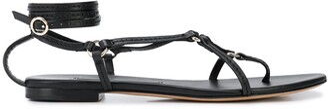 3.1 Phillip Lim Ankle Strap Ring Detail Sandals