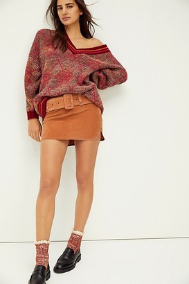 Free People On The Go-go Cord Mini Skirt