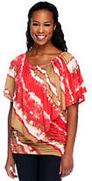 Lisa Rinna Collection Tie Dye Tunic withFlutter Poncho