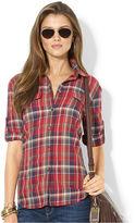 Lauren Ralph Lauren Top, Long-Sleeve Plaid Workshirt