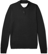 Oamc - Slim-fit Palm Tree-intarsia Cotton Polo Shirt