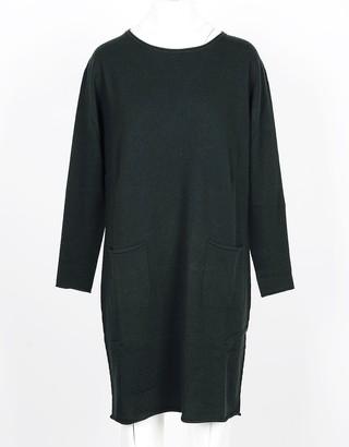 Lamberto Losani Green Wool, Silk and Cashmere Blend Women's Dress