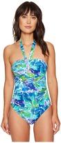 Lauren Ralph Lauren Lush Tropical Cut Out One-Piece Women's Swimsuits One Piece