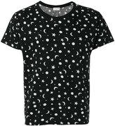 Saint Laurent stars and moon print T-shirt