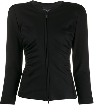 Emporio Armani Ruched Stretch Fit Jacket