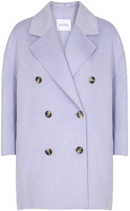American Vintage Dadoulove lilac wool-blend coat