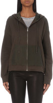 The Kooples Zip-up cotton-jersey jacket