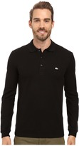 Lacoste Long Sleeve Stretch Grey Croc Pique Polo