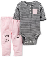 Carter's 2-Pc. Cotton Striped Bodysuit & Pants Set, Baby Girls (0-24 months)