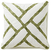 Southern Living Bamboo-Embroidered Square Pillow