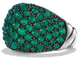 David Yurman Osetra Faceted Green Onyx Dome Ring