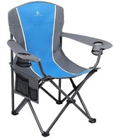 Oversized Arm Folding Camping Chair Alpha Camp Cushion Color: Blue/Gray