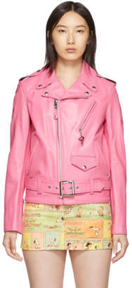 Marc Jacobs Pink Schott x New York Magazine Edition Peanuts The Perfecto Jacket