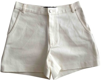 Vanessa Seward Ecru Cotton Shorts for Women