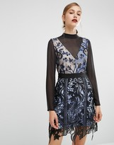 Self-Portrait Self Portrait Layered Lace Mini Dress