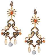 Azaara 22K Dipped Yellow Gold & Multi-Gemstone Drop Earrings