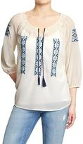 Old Navy Women's Embroidered Detail Blouses
