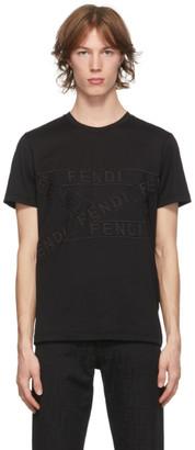 Fendi Black Logo Tape T-Shirt