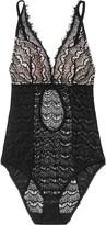 Mimi Holliday Bisou Bisou Sugar silk-trimmed lace bodysuit