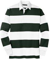 Mato & Hash Classic Long Sleeve Rugby Polo - MH - Black/Grey MHST301SA M