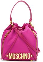 Moschino Letters bucket tote - women - Leather/Polyester - One Size