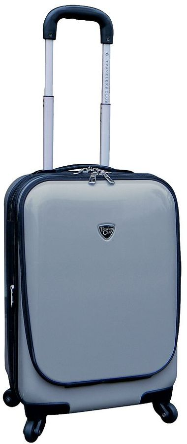 Travelers club luggage, 20-in. expandable hardside spinner laptop carry-on