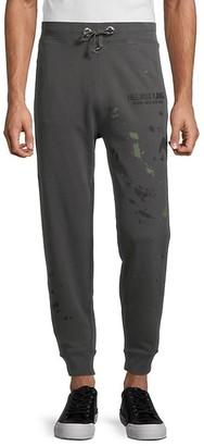 Helmut Lang Masc Paint Splatter Jogging Pants