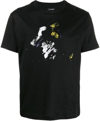 Les Hommes paint blot T-shirt