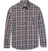 The Elder Statesman Checked Cotton-Flannel Shirt
