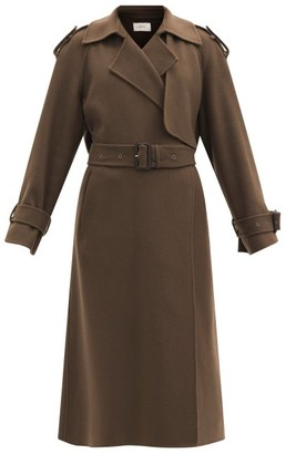 The Row Yeli Felted Cashmere-blend Trench Coat - Mid Brown