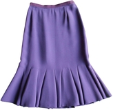 Prada Purple Wool Skirt