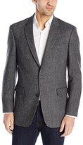 Tommy Hilfiger Men's Grey Herringbone Wool Blend Sport Coat, Grey