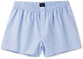 Hanro Fancy Woven Checked Cotton-Jacquard Boxer Shorts