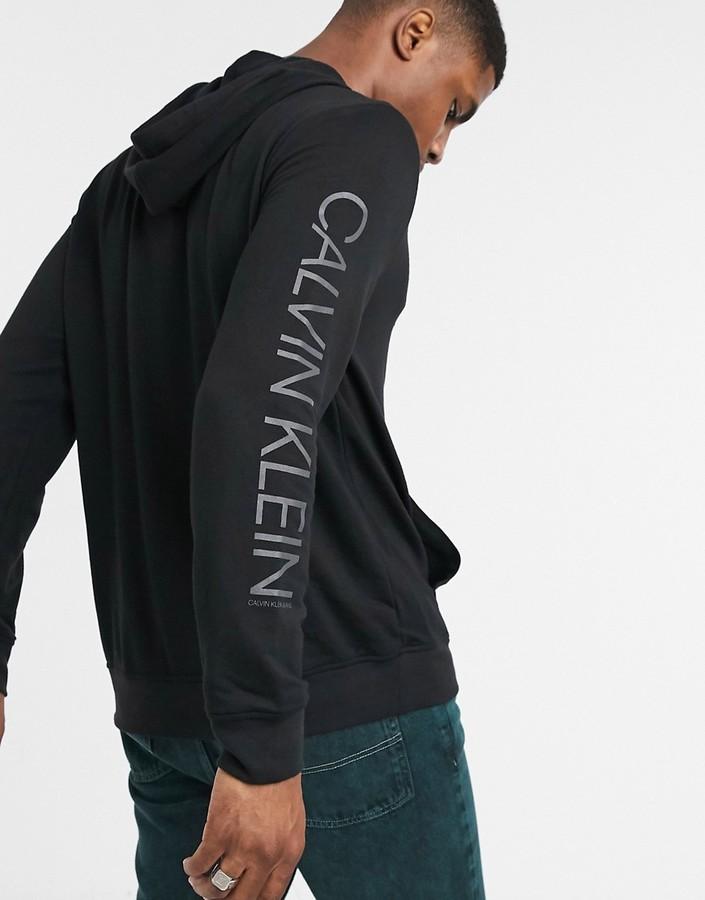 Calvin Klein Jeans modal po hooded sweater in black