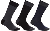 John Lewis Bamboo And Cotton Plain Socks, Pack Of 3