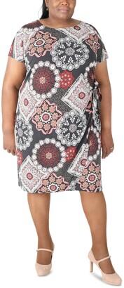 Robbie Bee Plus Size Side-Tie Dress