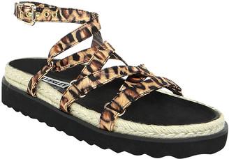 CAVERLEY Chase Leopard-Print Espadrille Sandals