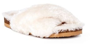 Calistoga Crisscross Fluffy Slide Slipper (Women's)