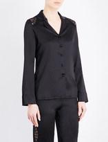 I.D. Sarrieri Macaroon Delights silk-satin and lace pyjama top