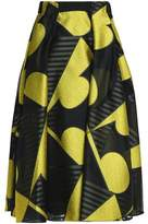 Vionnet Pleated Fil Coupé Jacquard Skirt