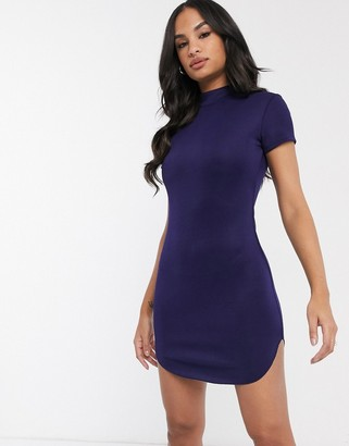 AX Paris high neck curved hem mini dress