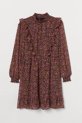 H&M H&M+ Flounce-trimmed dress