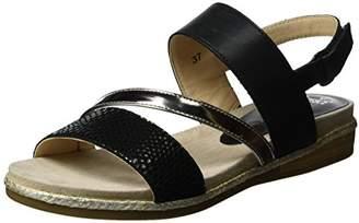 Caprice Women's 28105 Wedge Heels Sandals, Black Rept Com