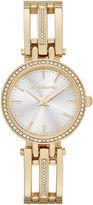Liz Claiborne Womens Gold-Tone Bangle Bracelet Watch