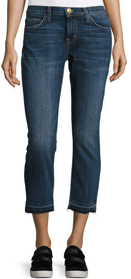 Current/Elliott The Cropped Straight-Leg Jean, Loved