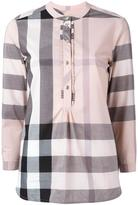Burberry front placket checked shirt