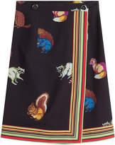 Marco De Vincenzo Printed Crepe Skirt