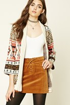 Forever 21 FOREVER 21+ Tribal Print Shawl Cardigan